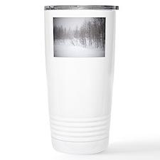 Winter landscape in a b Travel Mug