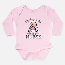 Best Nurse Mom Long Sleeve Infant Bodysuit