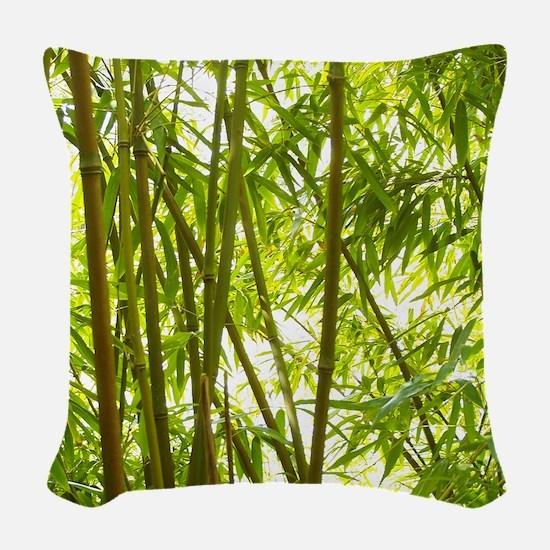 Bamboo Forest Woven Throw Pillow