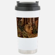Bunny In The Forest Stainless Steel Travel Mug