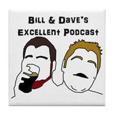 Bill and Dave Logo Tile Coaster