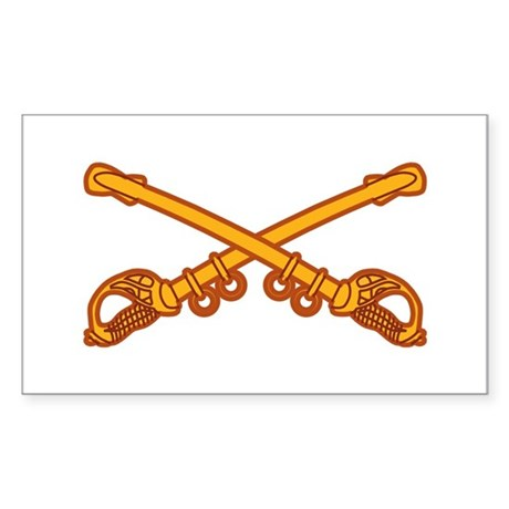 Cavalry branch Insignia Rectangle Sticker