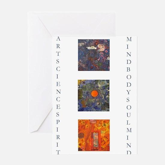 art science spirit poster.jpg Greeting Cards