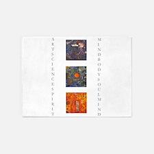 art science spirit poster.jpg 5'x7'Area Rug