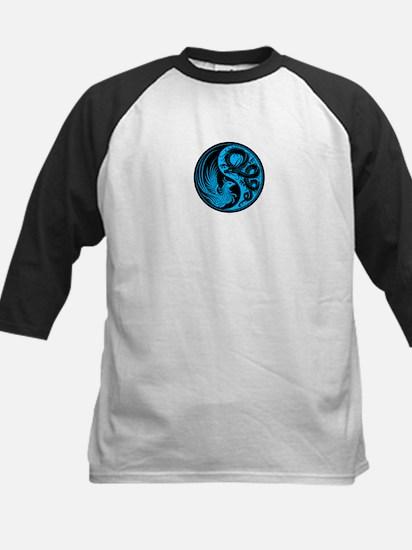 Blue and Black Dragon Phoenix Yin Yang Baseball Je