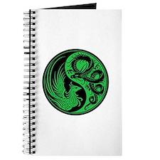 Green And Black Dragon Phoenix Yin Yang Journal
