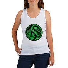 Green and Black Dragon Phoenix Yin Yang Tank Top