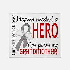 Parkinsons HeavenNeededHero1 Throw Blanket