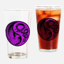 Purple and Black Dragon Phoenix Yin Yang Drinking
