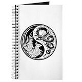 Dragon phoenix yin yang Journals & Spiral Notebooks