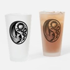 White and Black Dragon Phoenix Yin Yang Drinking G