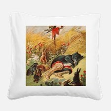 Fayry tale Puss in Boots Square Canvas Pillow