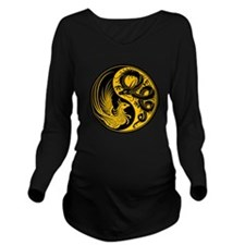 Yellow and Black Dragon Phoenix Yin Yang Long Slee