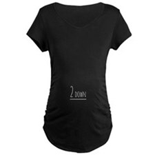 2 Down 7 To Go Maternity T-Shirt