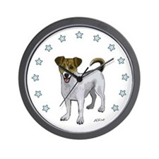 Jack Russell Star Wall Clock