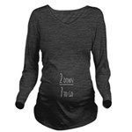 2 Down 7 To Go-Darkt Long Sleeve Maternity T-Shirt
