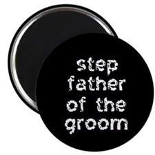 Step Father of the Groom Black Magnet