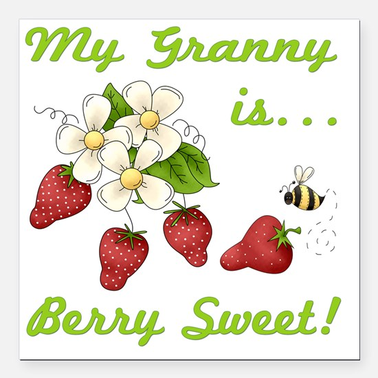 "Sweet Granny Square Car Magnet 3"" x 3"""