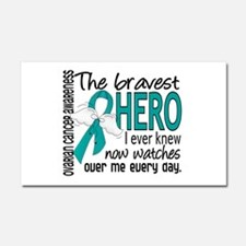 Cute Ovarian cancer Car Magnet 20 x 12
