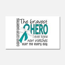 Funny Ovarian cancer ribbon Car Magnet 20 x 12