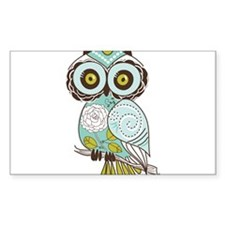 Teal Green Owl -2 Decal