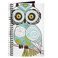 Teal Green Owl -2 Journal