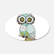 Teal Green Owl -2 Wall Decal