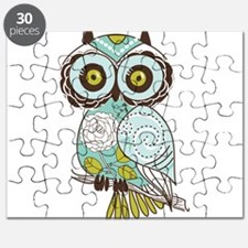 Teal Green Owl -2 Puzzle