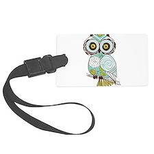 Teal Green Owl -2 Luggage Tag