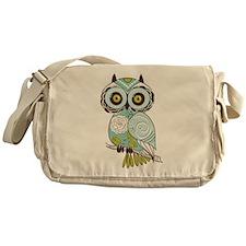 Teal Green Owl -2 Messenger Bag