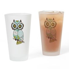 Teal Green Owl -2 Drinking Glass