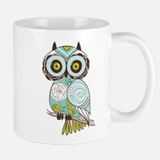 Teal Green Owl -2 Mugs