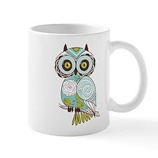 Teal Green Owl -2 Mugs