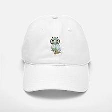 Teal Green Owl -2 Baseball Baseball Baseball Cap