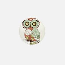 Multi Owl Mini Button