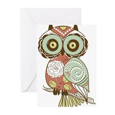 Multi Owl Greeting Cards