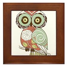 Multi Owl Framed Tile