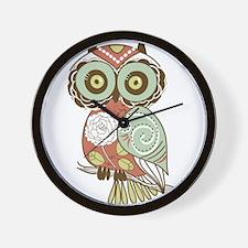 Multi Owl Wall Clock