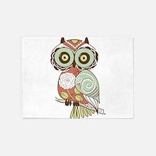 Multi Owl 5'x7'Area Rug