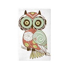 Multi Owl 3'x5' Area Rug