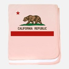 California State Flag baby blanket
