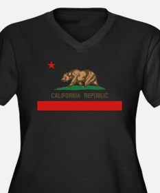 California State Flag Plus Size T-Shirt