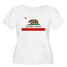 California State Flag Plus Size T-Shirt