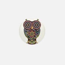 Vibrant Owl Mini Button