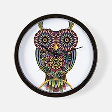 Vibrant Owl Wall Clock