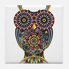 Vibrant Owl Tile Coaster