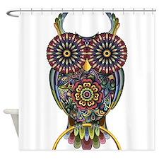 Vibrant Owl Shower Curtain