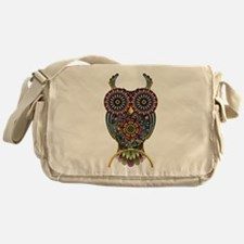 Vibrant Owl Messenger Bag