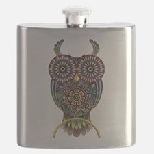 Vibrant Owl Flask