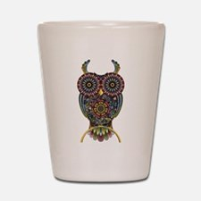 Vibrant Owl Shot Glass